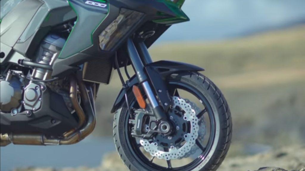 Kawasaki Versys 1000 Bs6 Tourer Bike Front suspension view